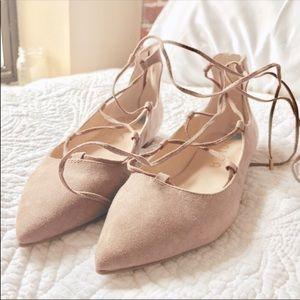 Shoes - Lace up Flats NWOT
